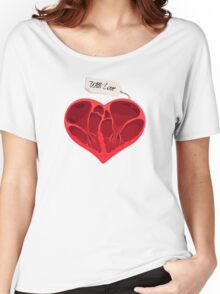 Valentines anatomy heart Women's Relaxed Fit T-Shirt