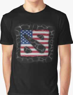American Dota Graphic T-Shirt