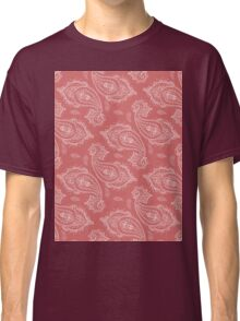 Coral Paisley Aztec Tribal Indian Pattern Classic T-Shirt