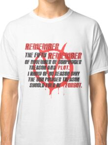 v for vendetta quote Classic T-Shirt