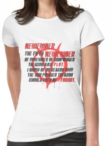 v for vendetta quote Womens Fitted T-Shirt