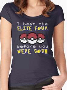 I beat the Elite Four Women's Fitted Scoop T-Shirt