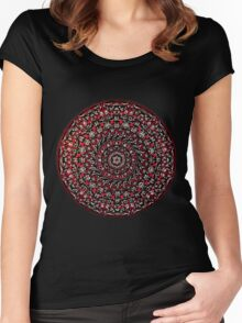 Red Mandala Women's Fitted Scoop T-Shirt