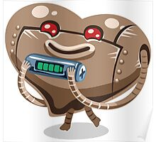 Valentines hearts robot gift Poster