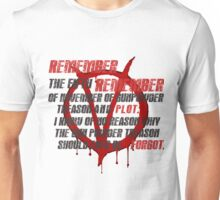 v for vendetta quote  Unisex T-Shirt