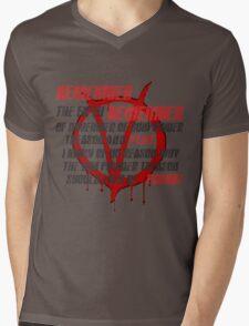 v for vendetta quote  Mens V-Neck T-Shirt