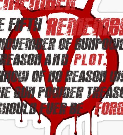 v for vendetta quote  Sticker