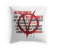 v for vendetta quote  Throw Pillow