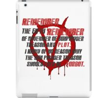 v for vendetta quote  iPad Case/Skin