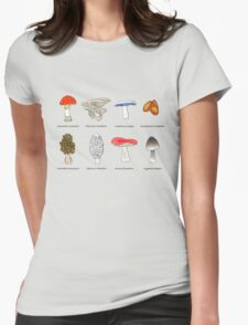 Mushroom Mania Womens Fitted T-Shirt