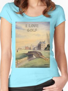 I LOVE GOLF  Women's Fitted Scoop T-Shirt
