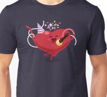 Valentines hearts karaoke Unisex T-Shirt