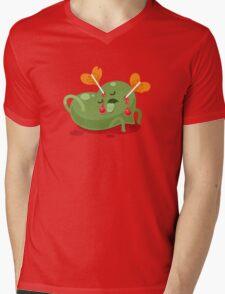 Dead Valentines heart Mens V-Neck T-Shirt