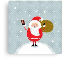 Happy Santa Illustration for christmas card Canvas Print