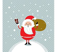 Happy Santa Illustration for christmas card Photographic Print
