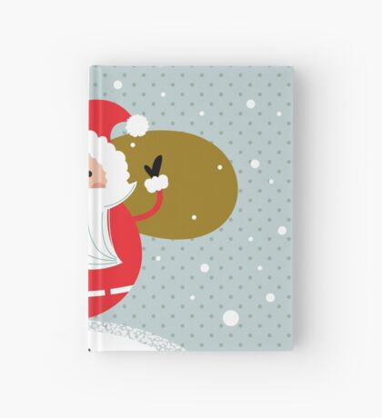 Happy Santa Illustration for christmas card Hardcover Journal