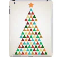 Xmas colorful mosaic tree with triangles iPad Case/Skin