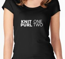 Knit One Purl Two - Funny Knitting Gift T-Shirt Women's Fitted Scoop T-Shirt