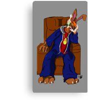 Gangster Rabbit smoking cigar Canvas Print