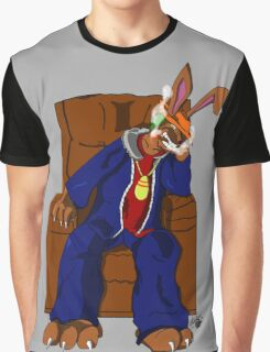 Gangster Rabbit smoking cigar Graphic T-Shirt