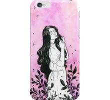 Daydreams - Watercolor and ink painting iPhone Case/Skin