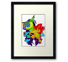 Never Monster Alpha. Framed Print