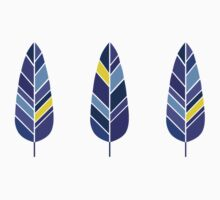 Purple, Blue, and Gold Feathers (Seamless Pattern) One Piece - Short Sleeve