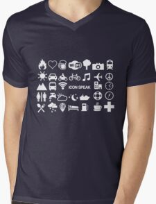 Icon Speak Mens V-Neck T-Shirt