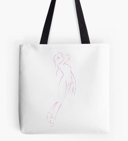 Simplistic Line Art Woman Tote Bag