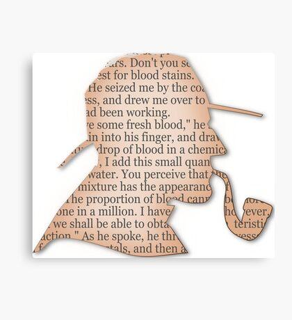 Silhouette Sherlock Holmes  Canvas Print