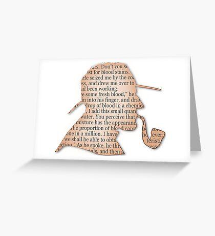 Silhouette Sherlock Holmes  Greeting Card