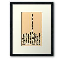 Parks & Rec 2 Framed Print