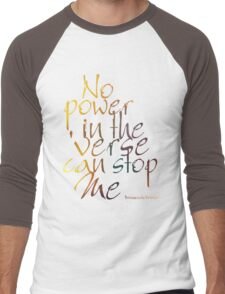 No Power in the 'Verse can stop Me, Browncoats Forever Men's Baseball ¾ T-Shirt
