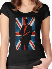 Twelve's Guitar, Hell Bent Doctor Who Women's Fitted Scoop T-Shirt