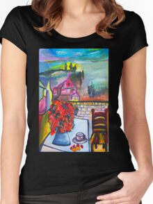 Room With A View Women's Fitted Scoop T-Shirt