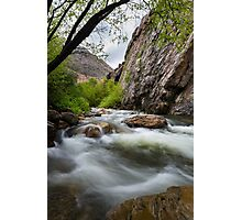 Little Cotton Wood River with Cliff Photographic Print