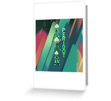 Peridot x3 - Steven Universe Greeting Card