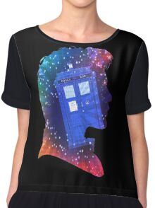 The Eleventh Doctor Silhouette with TARDIS Chiffon Top