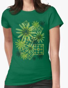 Yellow Daisy Womens Fitted T-Shirt