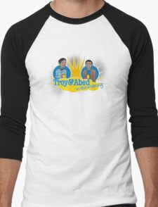 Troy and Abed in the Morning Men's Baseball ¾ T-Shirt