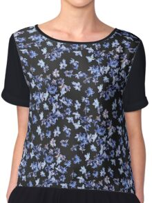 Hyacinth Blossoms Chiffon Top
