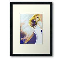 Blonde Cigarette Framed Print