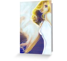 Blonde Cigarette Greeting Card