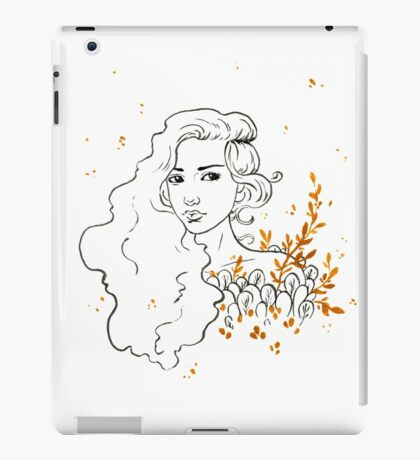 Black and gold ink drawing iPad Case/Skin