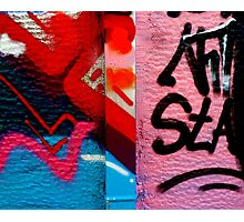 Graffiti wall. Art. Photographic Print