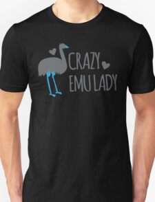 Crazy EMU lady Unisex T-Shirt