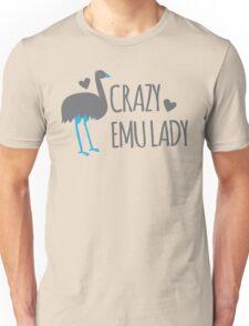 Crazy EMU lady Unisex T-Shirt