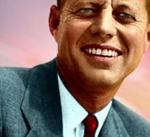 Colorized John F. Kennedy Sticker