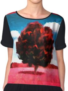 landscape  tree  nature  horror Chiffon Top