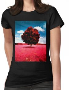 landscape  tree  nature  horror Womens Fitted T-Shirt